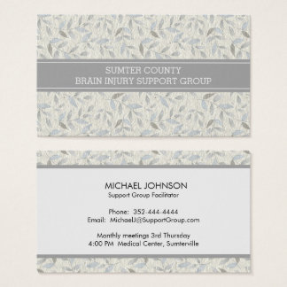 Elegant Gray Leaves Support Group Networking Card