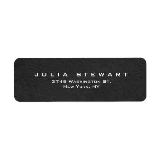 Elegant Gray Professional Modern Personal Return Address Label
