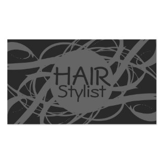 Elegant Gray Silver Hair Stylist Pack Of Standard Business Cards