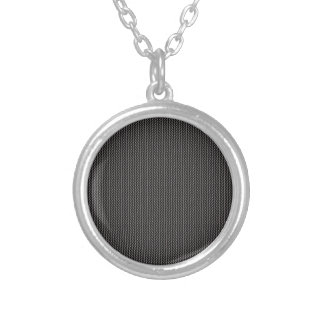 Elegant gray texture silver plated necklace