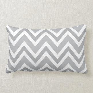 Elegant gray zigzag chevron pattern custom pillow