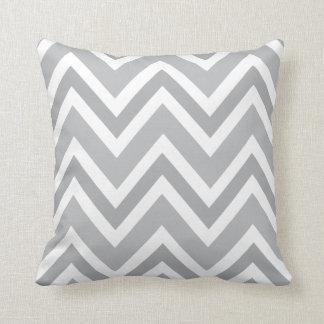Elegant gray zigzag chevron pattern custom pillow cushions