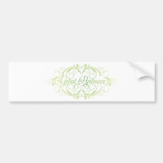 Elegant Great Pyrenees Bumper Sticker