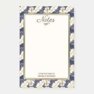 Elegant Greek Scrolled Acanthus Leaves & Navy Post-it Notes