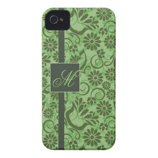 Elegant Green BlackBerry Bold Case with Monogram