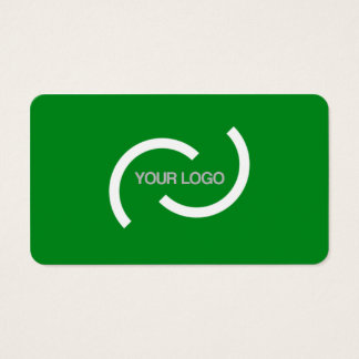Elegant green card. Customise with your own logo. Business Card