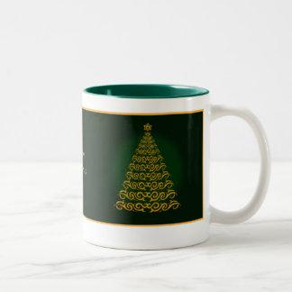 Elegant  Green  Christmas Tree Mug