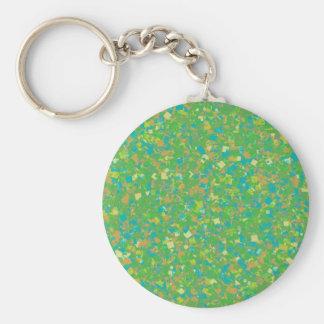 Elegant Green Confetti TEMPLATE Add text image fun Keychain