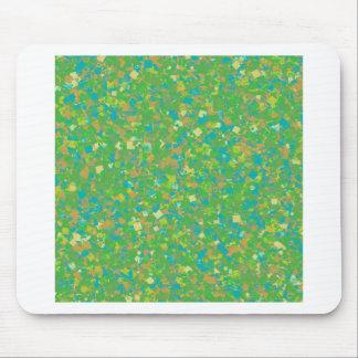 Elegant Green Confetti TEMPLATE Add text image fun Mousepad