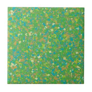 Elegant Green Confetti TEMPLATE Add text image fun Ceramic Tiles