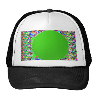 Elegant Green Disc Template:Add txt img Greetings Hat