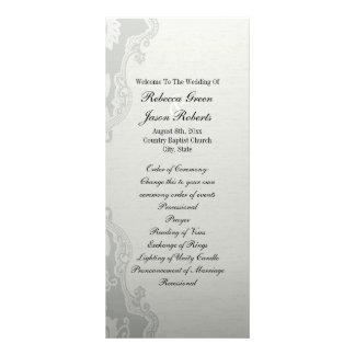 elegant Green Floral country wedding program Rack Card
