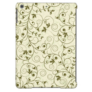 Elegant green floral Pattern Design iPad Air Cases