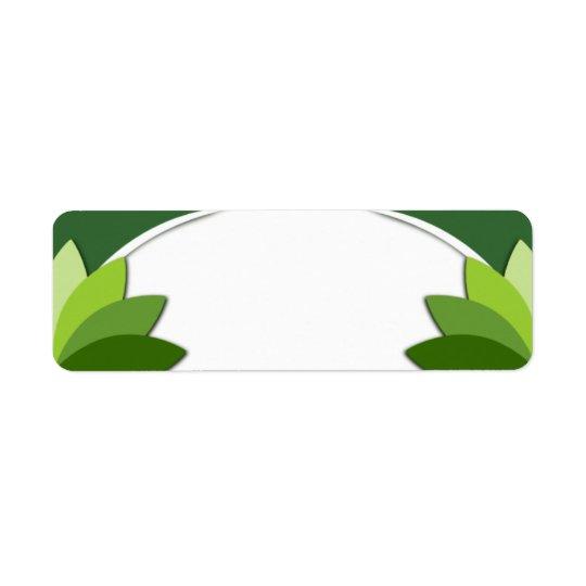 Elegant Green Florals Template Return Address Label