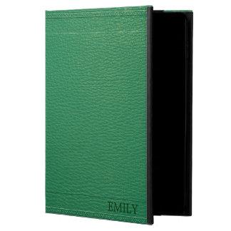 Elegant Green Fox Leather Look Texture Powis iPad Air 2 Case