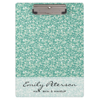 Elegant Green Glitter Pattern Clipboard