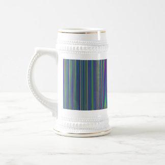 Elegant Green Grey DARK Stripes  Gift all occasion Beer Steins
