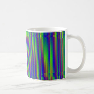 Elegant Green Grey DARK Stripes  Gift all occasion Mug
