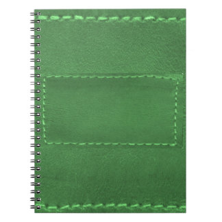 Elegant Green Leather Look Artistic Gifts Notebooks
