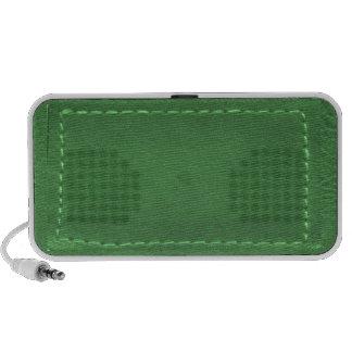 Elegant Green : Leather Look Artistic Gifts iPhone Speaker