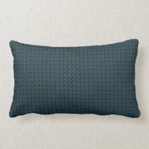 Elegant Green Lumbar Pillow