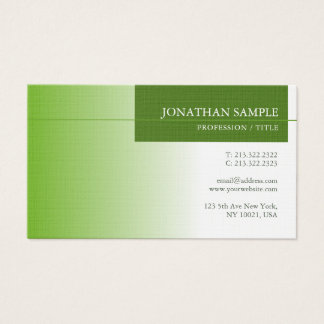 Elegant Green Nature Environment Protect Luxury Business Card