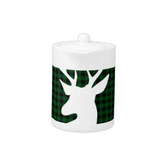 Elegant Green Plaid Deer Design