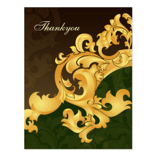 Elegant green Thank You Cards Postcard