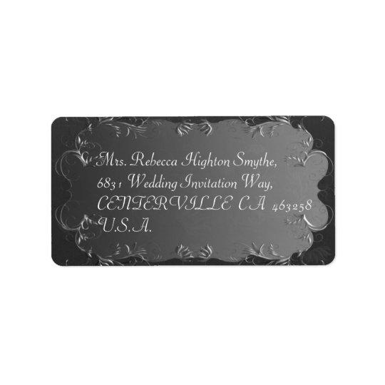 Elegant Grey and Silver Wedding Address Labels