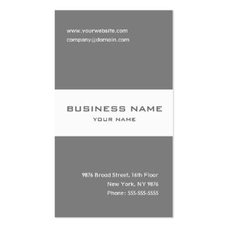 Elegant grey and white striped business card business cards