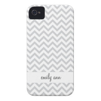 Elegant Grey Chevrons Pattern iPhone 4 Cases