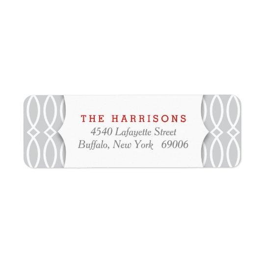 Elegant Grey Holidays Personalised Return Address Label