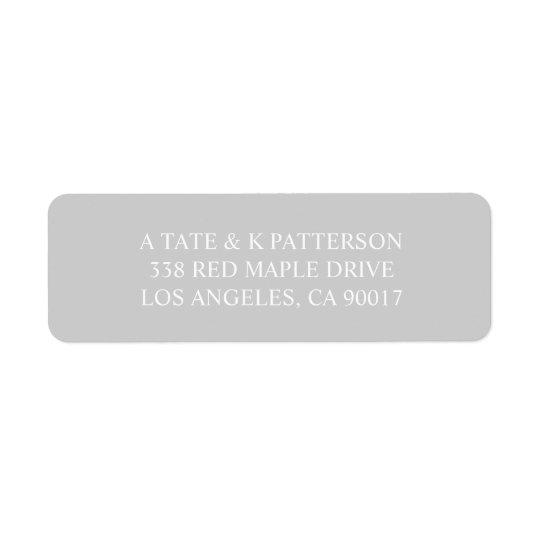 Elegant grey invitation return address labels