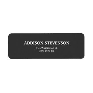 Elegant Grey Modern Unique Minimalist Plain Return Address Label