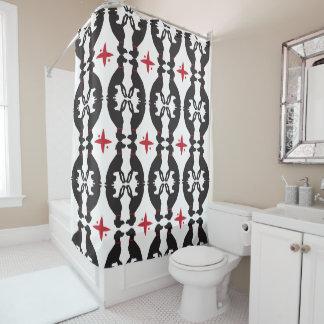 Elegant Greyhound Shower Curtain