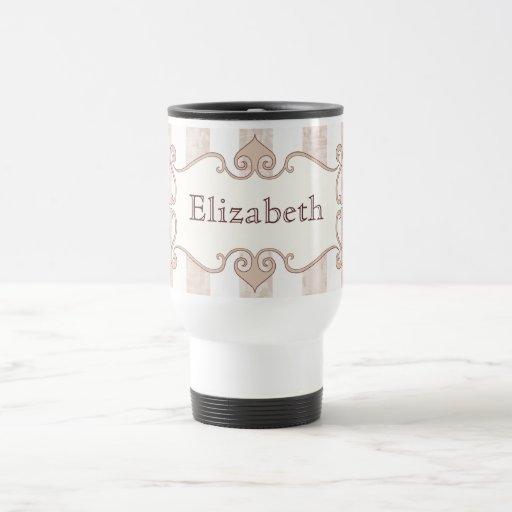 Elegant grunge striped pink coffee mug