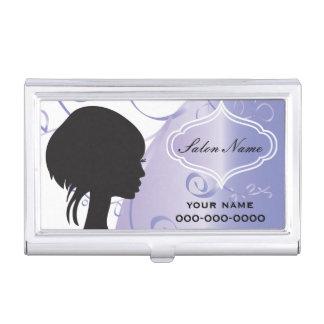 Elegant Hair Salon Stylist Business Card Holder