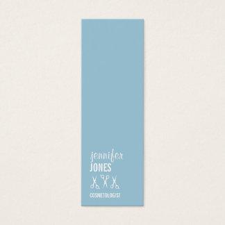 elegant hair stylist modern simple scissors budget mini business card