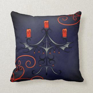 Elegant Halloween candelabra Throw Pillow