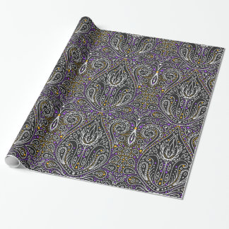 elegant Halloween damask wrapping paper