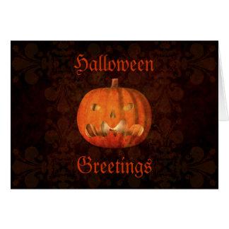 Elegant Halloween jack o lantern Greeting Card