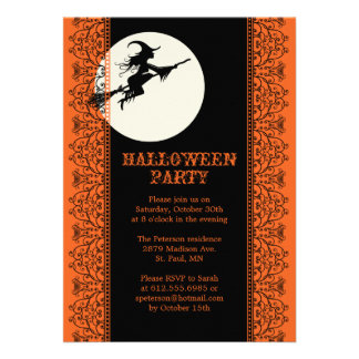 Elegant Halloween Party Invitation - B