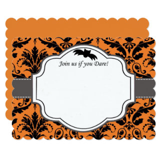 Elegant Halloween Wedding Invitation