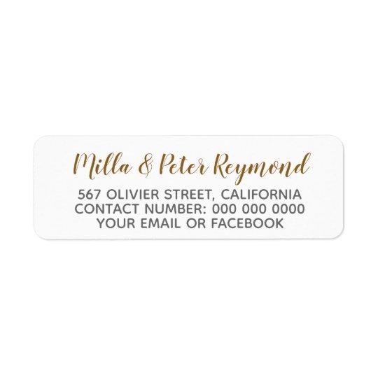 elegant handwritten names + address information return address label