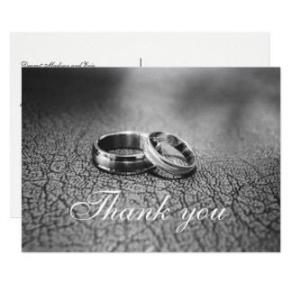 Elegant Handwritten Wedding Thank You Postcard