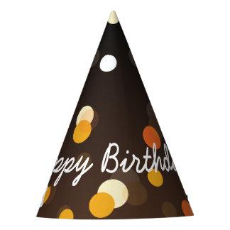 Elegant Happy Birthday in Sparkles Party Hat