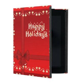 Elegant Happy Holidays iPad Folio Case