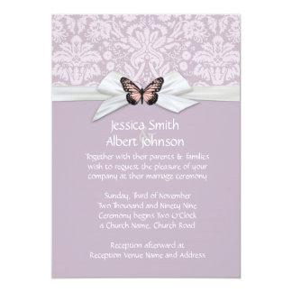 "Elegant Haze Tudor Damask Wedding Invite 5"" X 7"" Invitation Card"