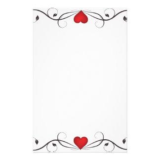 Elegant Heart Tattoo Stationary Stationery
