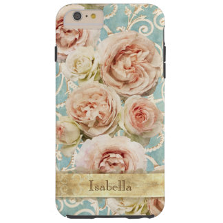 Elegant Heirloom Roses with Damask Personalized Tough iPhone 6 Plus Case